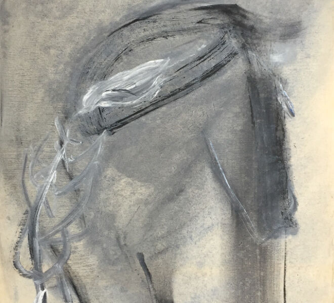 """Untitled, 1987, Acrylic on washi, 35.5"""" × 25"""""""