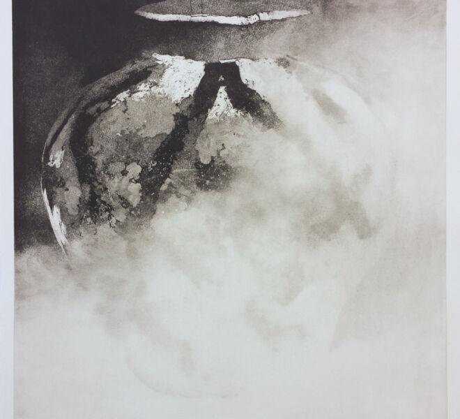 "Colossus, 2017, 37 1/4"" × 30 1/4"", monoprint intaglio on Hahnemuhle cotton rag"